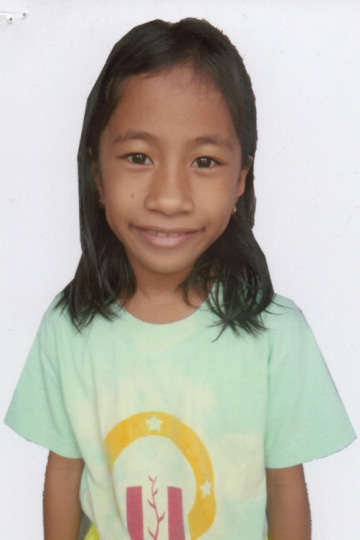 Rhea Angela Gallardo - Filipino sponsor child